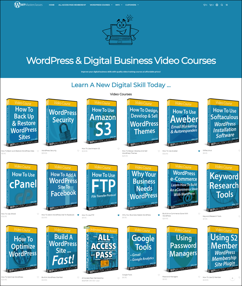 WPMasterclasses.com - WordPress and Digital Business Video Courses